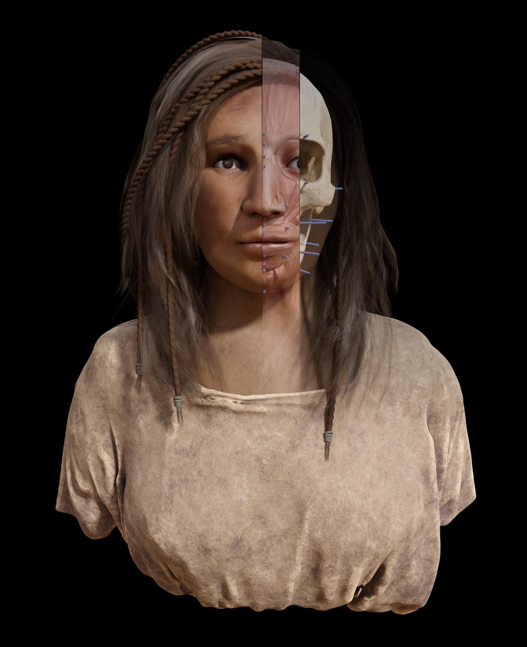 Reconstrucciónn facial aborigen canaria