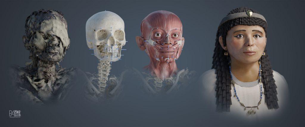 momia egipcia del Periodo Ptolemaico