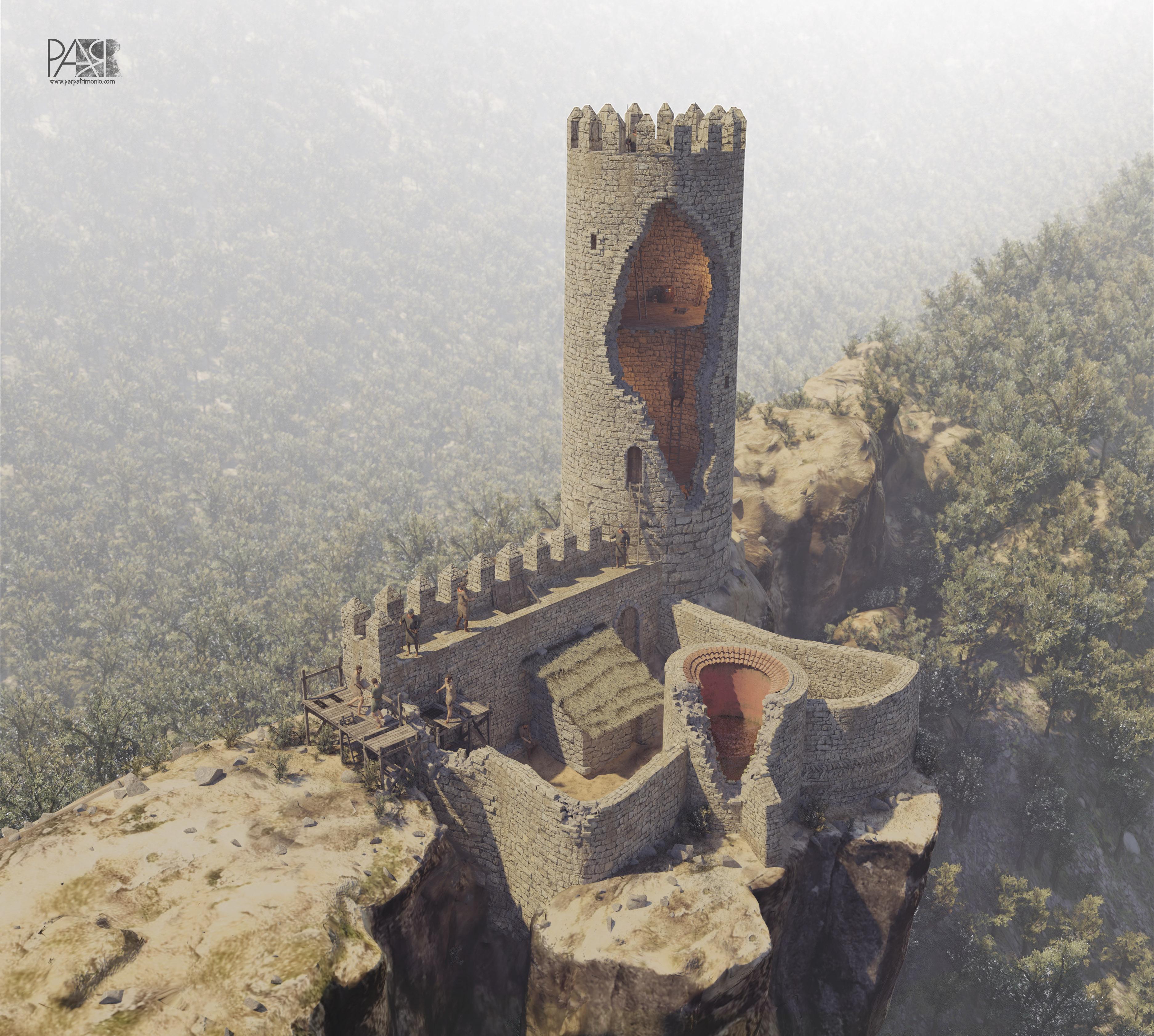 Reconstrucción en 3D del Castell de Vilademàger
